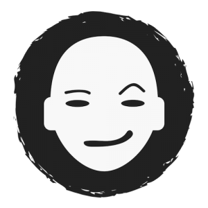 eerie, sarcastic smiling face